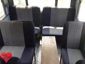 Neue Sitze im Schulbus.