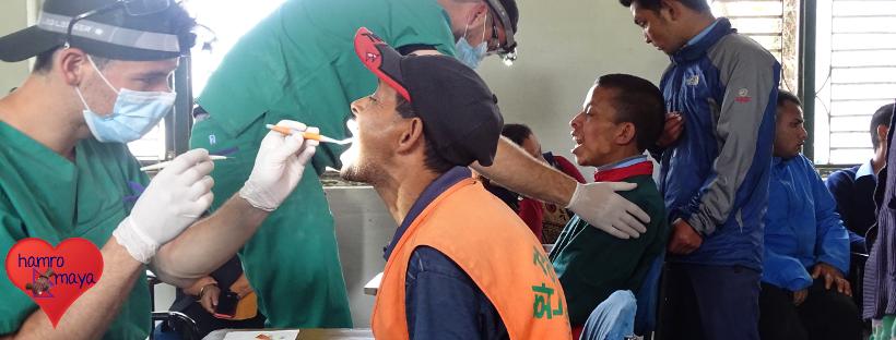 Dental Camp in der Behindertenschule.