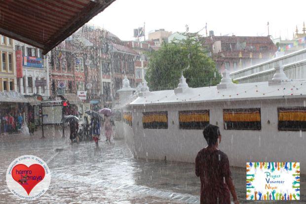 In der Monsunzeit sind kaum Großprojekte in entlegenen Dörfern möglich.