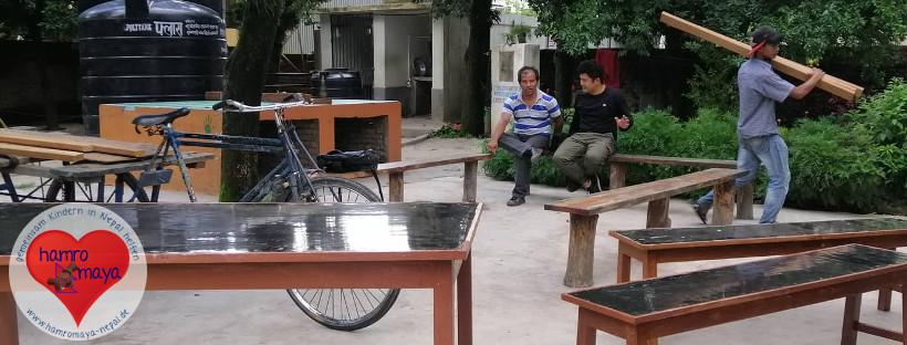 Neue Küchenmöbel für Behindertenschule.