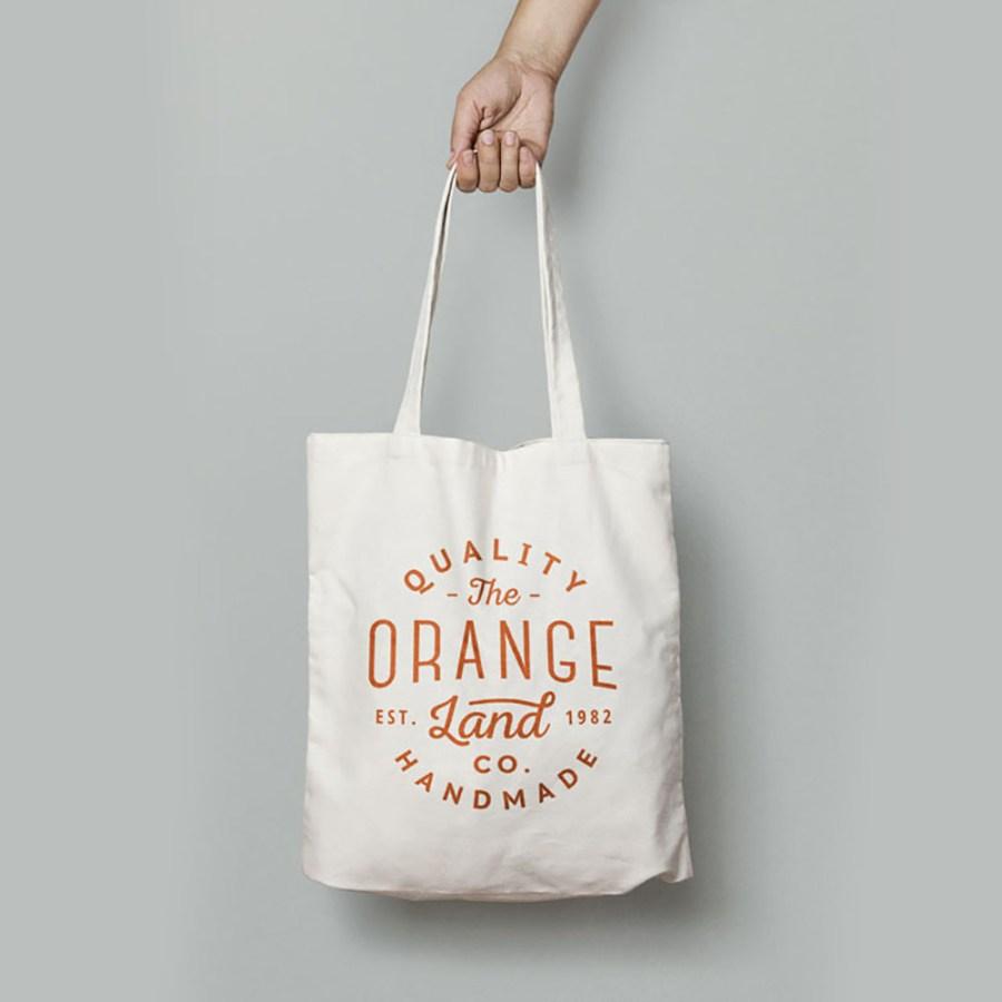 Printed cotton shopping bag sold for wholesale via Handbag-Asia.com