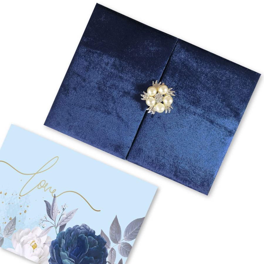 velvet wedding invitation folder