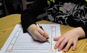 Handwriting practice warms up the brain for writing activities!