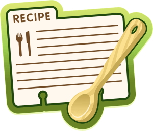 recipe card open clips pixabay