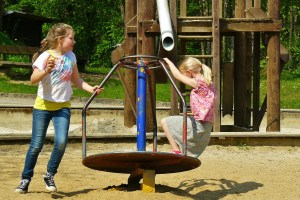 Playgrounds build both gross- and fine-motor skills!