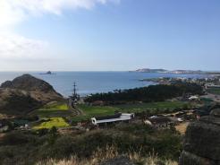 산방연대에서 풍경 용머리 해안