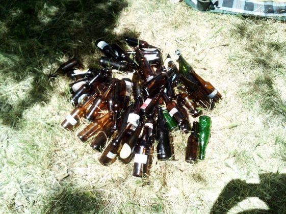 Nos hemos bebido unas pocas, ahora a recoger botellas vacias