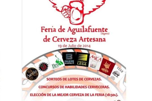 Cartel Feria Aguilafuente de Cerveza Artesana