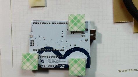 Placa Arduino con los soportes