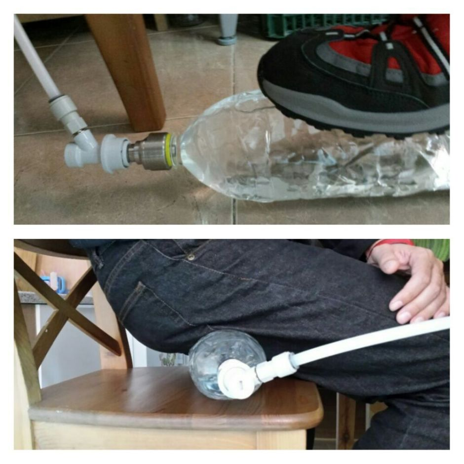 Presionando botella