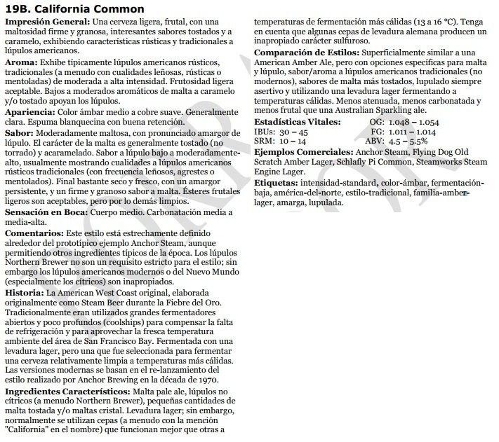 California Common - BJCP 2015