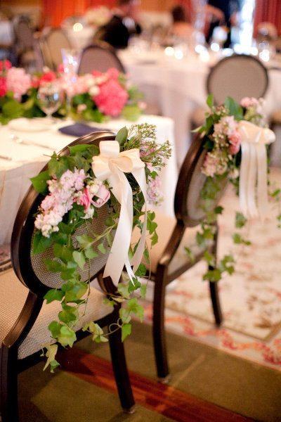 Decoration Chaises Mariage Fleurs