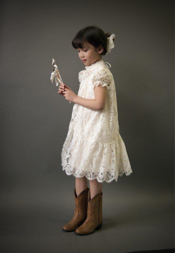 Une robe en dentelle pour mes petites filles d 39 honneur ou pas - Robe petite fille d honneur ...