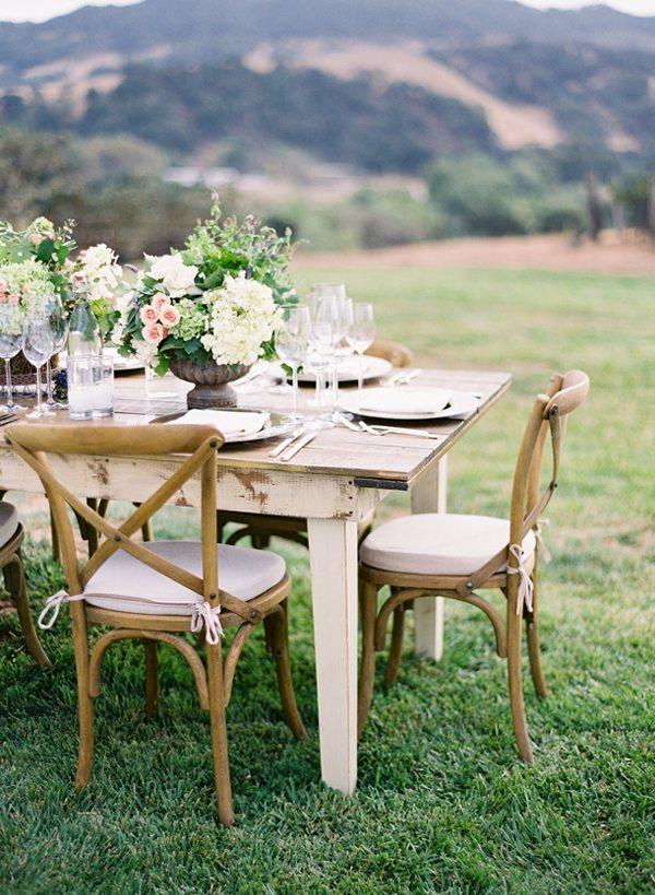 Joli mariage nature for Deco table exterieur