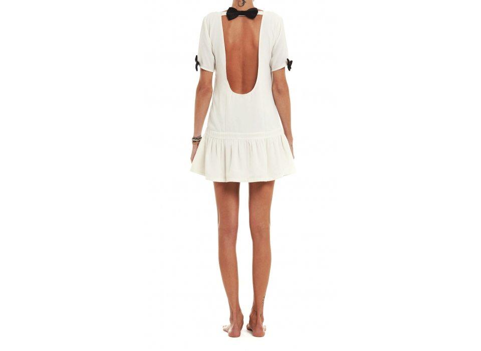 petites robes blanches dos nu. Black Bedroom Furniture Sets. Home Design Ideas