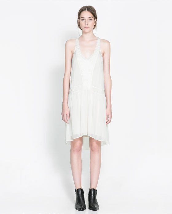 Petite robe blanche fluide