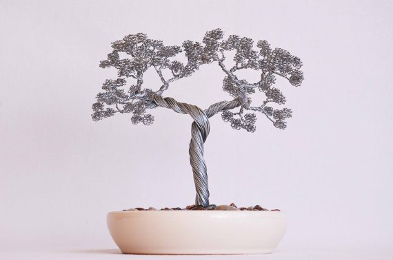 d coration des bonsa s en fil de fer d couverte. Black Bedroom Furniture Sets. Home Design Ideas