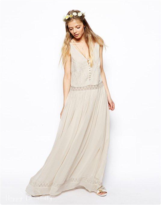 Robes du dimanche robes style boh me et nature - Robe blanche vintage ...