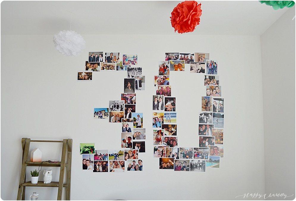 anniversaire surprise des 30 ans diy d coration photos happy chantilly. Black Bedroom Furniture Sets. Home Design Ideas