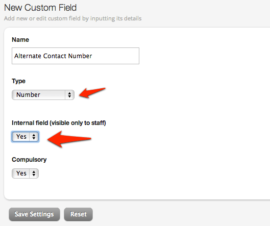 Creating a New Contact Custom Field