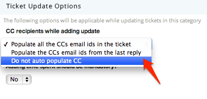 Email Carbon Copy Options