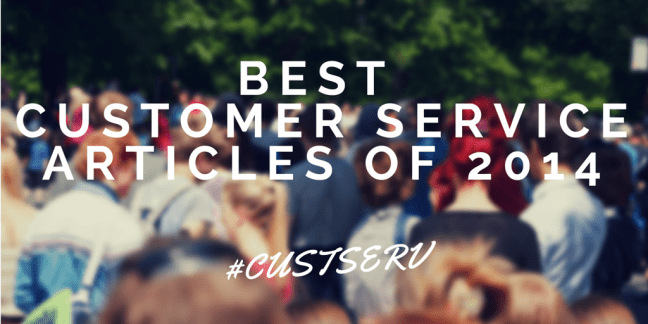 Best Customer Service Articles of 2014