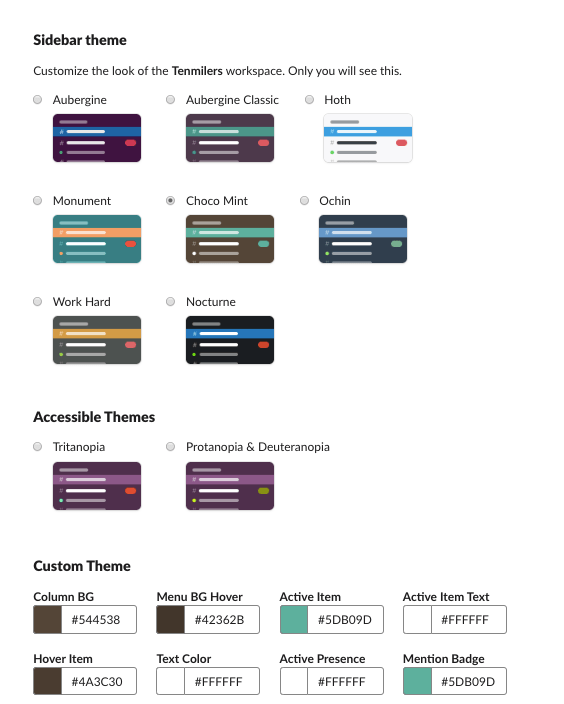 Slack Themes Showcase