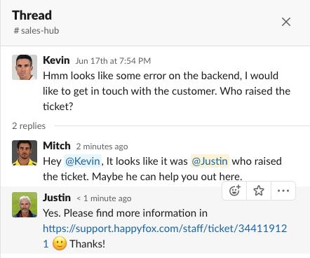 Conversation Threading in Slack