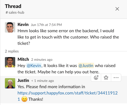 Conversation Threading in Slack