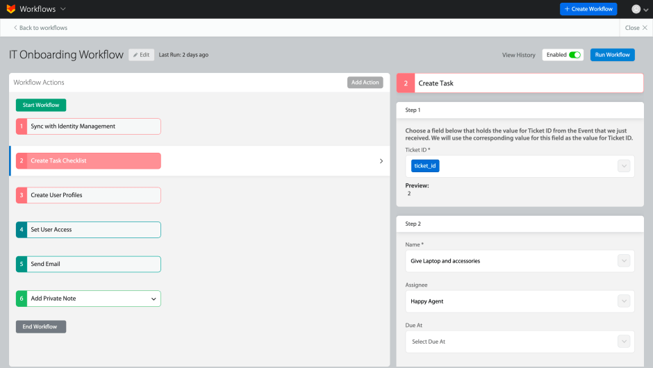 Automate IT Onboarding With HappyFox Workflows