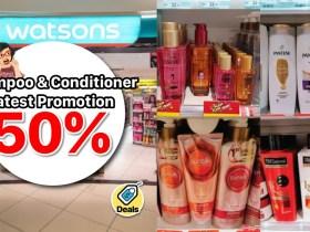 Watsons Shampoo 50% Off
