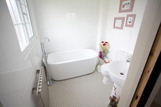 spot stone bathroom floor