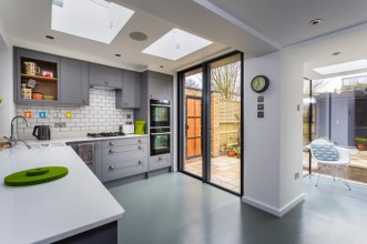 Ken has used Smooth Rubber in this contemporary kitchen, and the solid colour is the perfect decision for the space