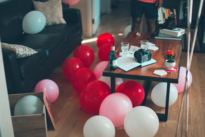 dées surprises anniversaire party