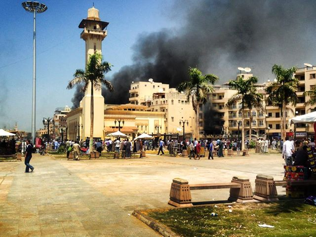 Fire in Luxor. Credit: Luxor Times.