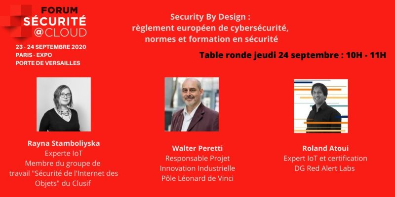 """Table ronde """"IoT : Security by design"""""""