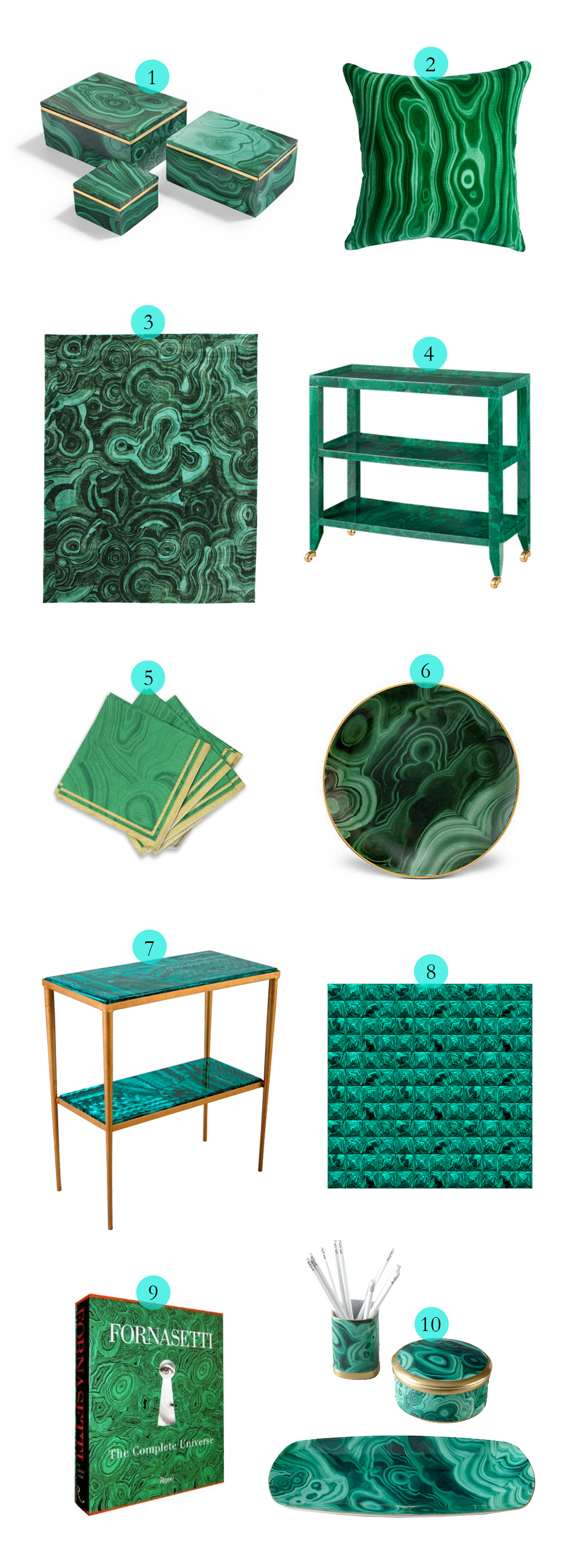 Tuesday Ten: Malachite