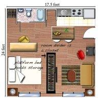 Studio Apartment Layout Magic   Havenly
