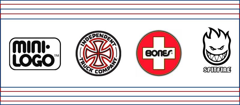 Principais marcas de rolamento de skate- Mini-Logo, Independent, Bones, Spitfire