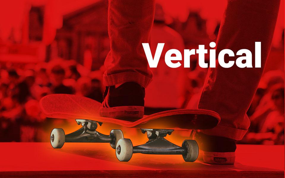 vertical - tipo de roda de skate