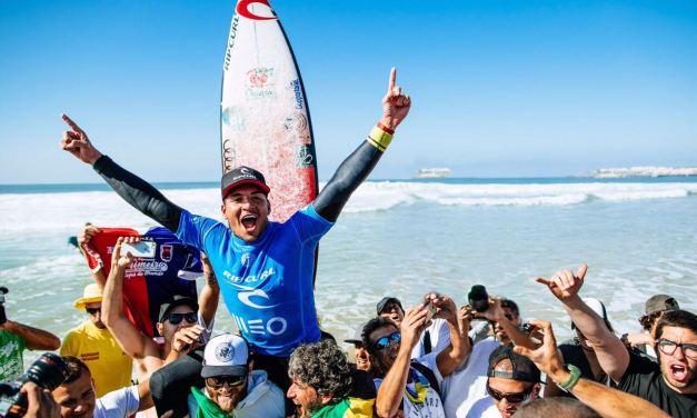 Gabriel Medina vence em Portugal e entra na briga pelo Bi Mundial