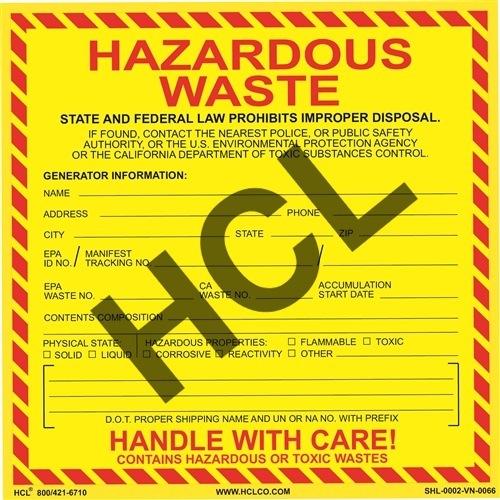 Labeling Hazardous Waste – Official HCL Labels Blog