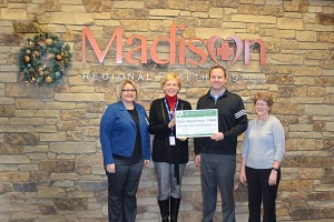 From left to right: Madison Regional Health CFO Theresa Mallet, CEO Tammy Miller, Heartland CFO Mike Malone and Accountant Sharla Fedeler.