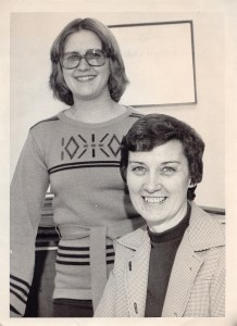 Kathie Lewis, left, in 1978 with Carolyn Rudebusch.
