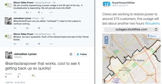 Utilities can use social media to share outage information and respond quickly to customers.