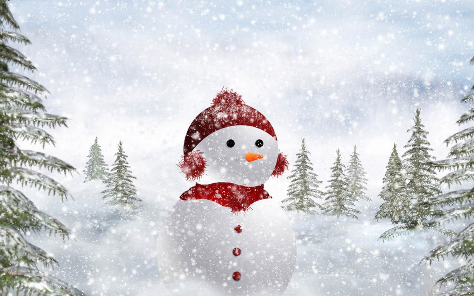 Falling Snow Wallpaper Widescreen 21 Hd Snowman Wallpapers