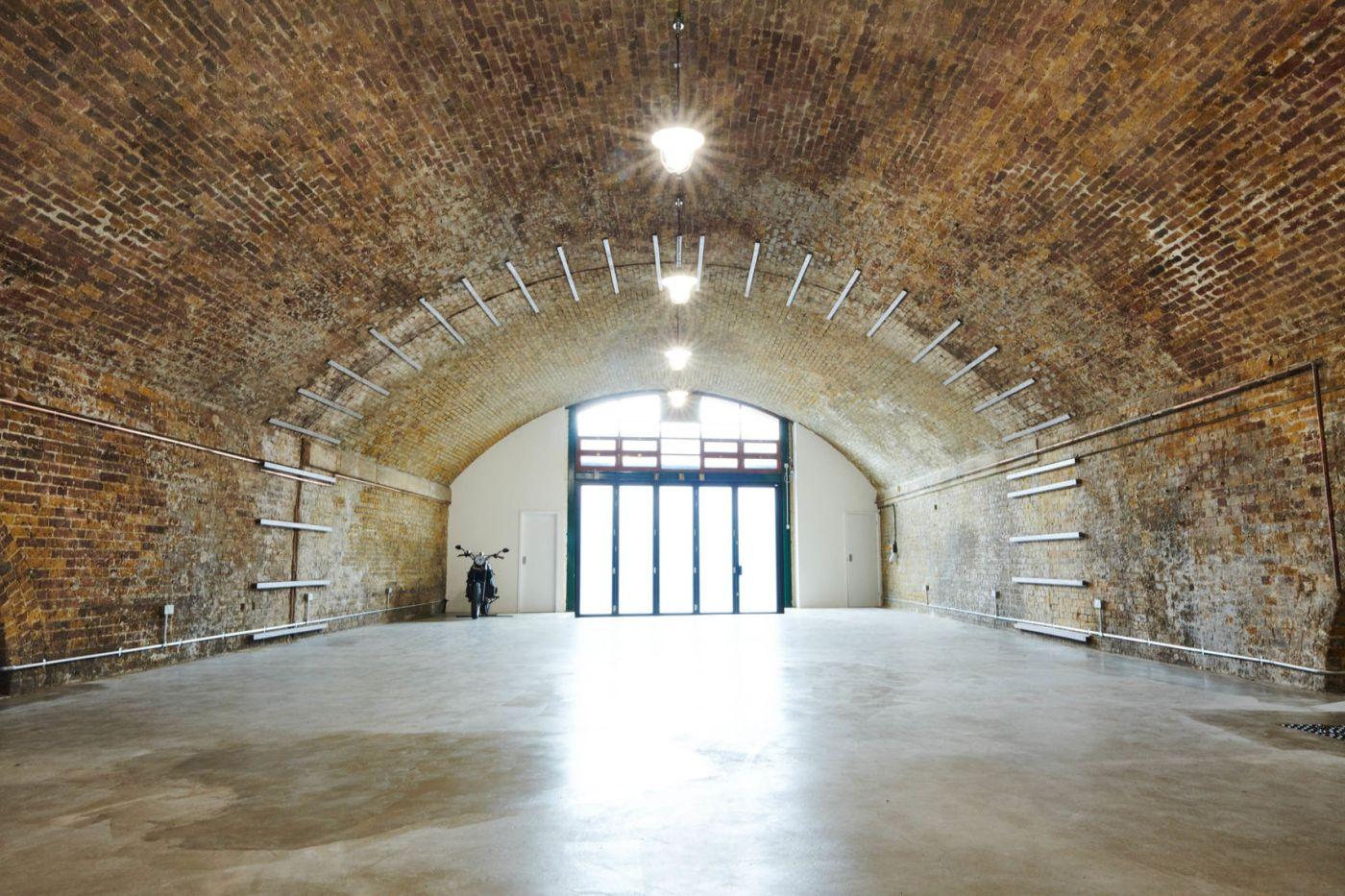 A large urban archway venue