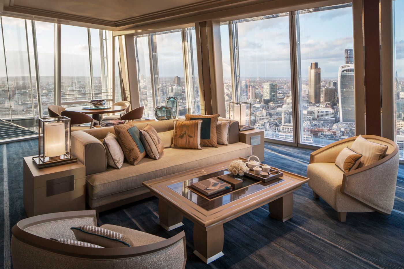 A luxury suite in the Shard