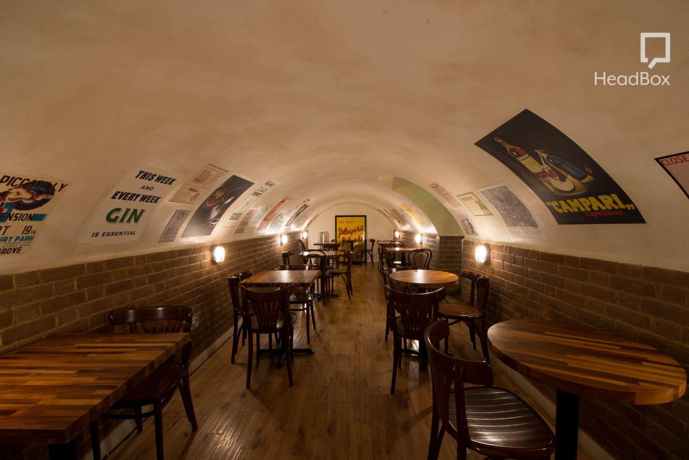 An underground bar in Soho