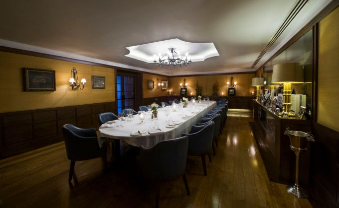 Private dining room at Corrigan's Mayfair